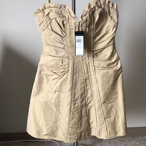 BCBGMAXAZRIA Woven Taffeta Dress